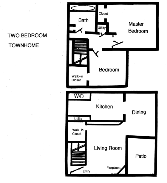 2 BR Townhomes For Rent In Columbus, Ohio