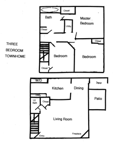 3 BR Townhomes For Rent in Columbus, OH Floor Plan
